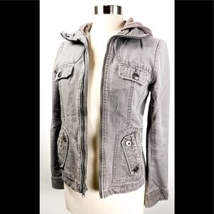 Jack by BB Dakota Gray Utility Jacket - Small